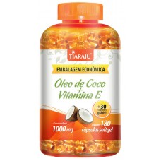 Óleo de Coco + Vitamina E (1000 mg) - 180+30 Cáps. Softgel