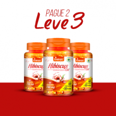 LEVE 3 PAGUE 2 - Hibiscus Oil (700 mg) - 60+10 Cápsulas