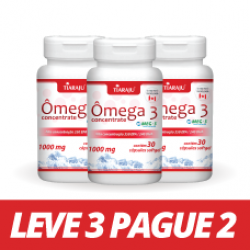LEVE 3 PAGUE 2 Ômega 3 Concentrate (1000 mg) - 30 Cáps. Softgel